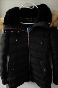 Nowa kurtka płaszcz Zara z tkaniny hydrofobowej 40