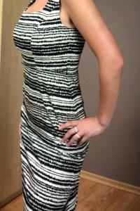 Czarno biała sukienka Ołówkowa klasyczna Biurowa z bawełny S M&...