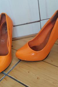 Szpilki Pomarańczowe neon ALWAYS skóra 36 35...