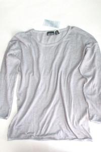 szara bluzka xl popielaty sweterek xl oil washed bluzka