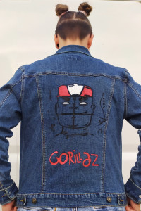 Kurtka jeansowa custom Gorillaz
