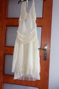 Tiulowa sukienka kremowa raz założona...