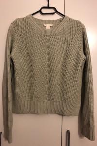 Jasnozielony sweter wkładany z długim rękawem pastelowo miętowy...