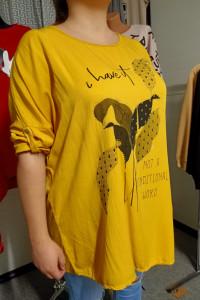 bluzka Żółta Szerokość w biuście 150cm