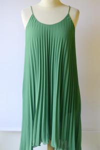 Sukienka H&M S 36 Zielona Plisowana Asymetryczna Plisa