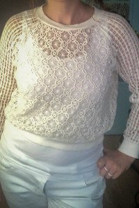 Ażurowa bluzka Zara M bawełna...