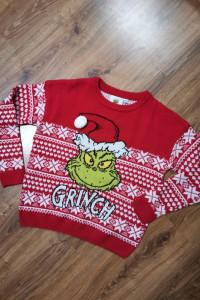 Czerwony świąteczny sweter XS...
