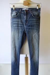 Spodnie Zara S 36 Postrzępione Nogawki Dzinsy Jeansowe