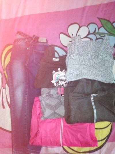 Komplety Okazja paka ubrań 130 134 H&M kappahl spodnie bluzy bluzki kurtka