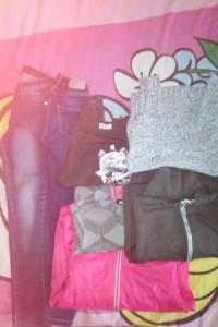 Okazja paka ubrań 130 134 H&M kappahl spodnie bluzy bluzki kurtka