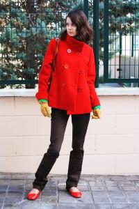 Czerwony Płaszcz H&M rozmiar 34