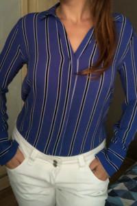 Niebieska koszula w paski M&S 36