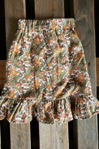spodnica floral falbana