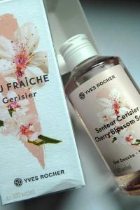 Yves Rocher Eau Fraiche kwiat wiśni edt i żel