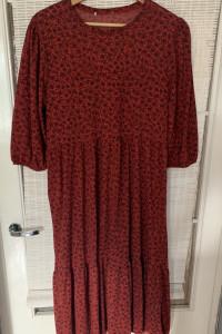 Piękna boho sukienka w kolorze rudym...
