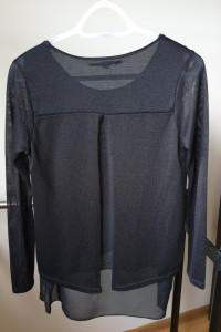 Czarny cienki sweter z dłuższym tyłem New Look rozmiar S M...