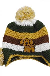 czapka zimowa wełniana chłopięca rozm 2 do 3 lata