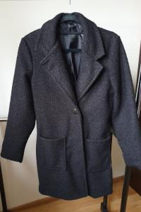 Wełniany klasyczny płaszcz czarny rozmiar XS S