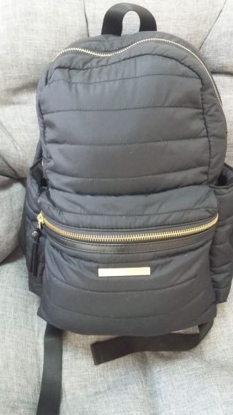 Plecaki Czarny pikowany plecak Et day birger et mikkelsen