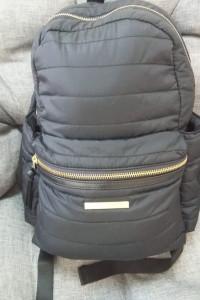 Czarny pikowany plecak Et day birger et mikkelsen