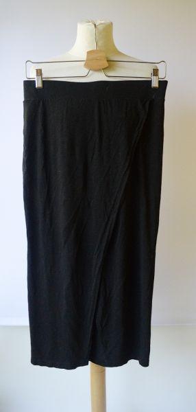 Spódnice Spódniczka Czarna H&M Kopertowa Midi Ołówkowa S 36