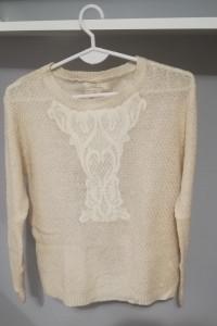 Sweter kremowy S...