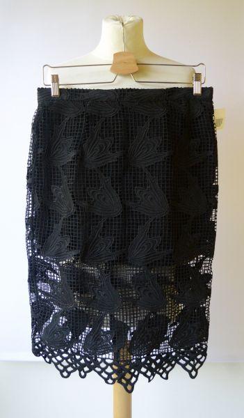 Spódnice Spódniczka Czarna NOWA Koronkowa Glamorous XL 42