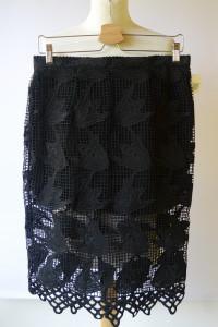 Spódniczka Czarna NOWA Koronkowa Glamorous XL 42...