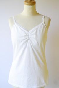 Koszulka Nocna H&M L 40 Biała Koronka Bluzka Biel