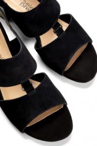 Czarne eleganckie sandały skóra zamszowa 40 i 255 cm