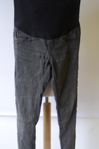 Spodnie Tregginsy Szare H&M Mama Super Skinny S 36...