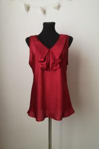 Czerwona bluzka żabot rozmiar M...