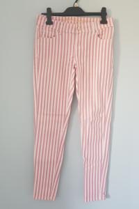 Spodnie w różowe paski...