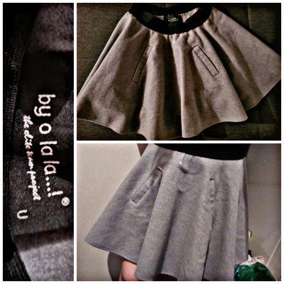 Spódnice By o la la filcowa szara spodniczka u