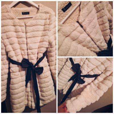 Odzież wierzchnia Futerko biale nowe