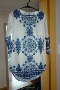 Tunika biało niebieska