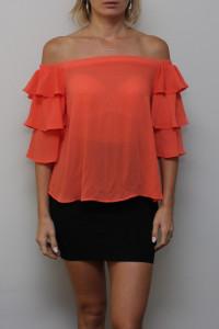 Pomarańczowa Koszula Hiszpanka...