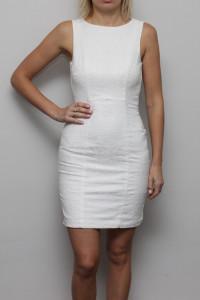 Biała Dopasowana Sukienka XS...