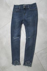 spodnie jeans rurki LEXXURY 38 skinny granatowe...