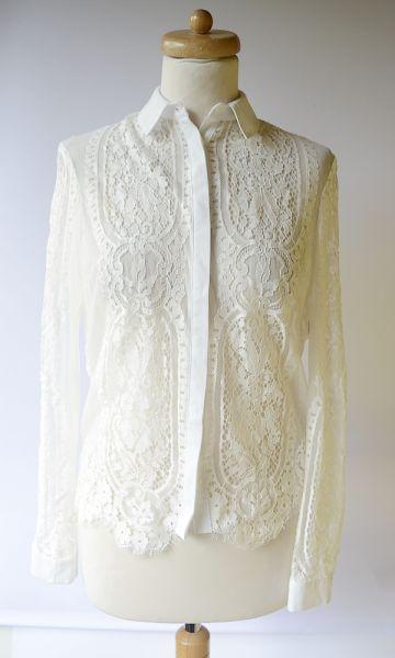 Koszule Koszula NOWA Biała Lipsy London Koronkowa S 36 Koronka