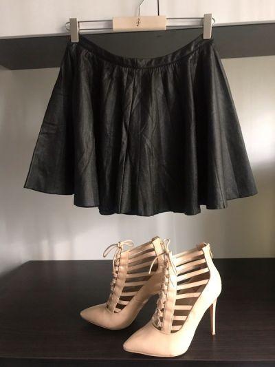 Spódnice Skórzana Spódniczka Wysoki Stan M