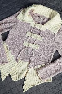Sweterek asymetria wrzosowy