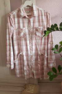 Sukienka koszula tunika w kratę