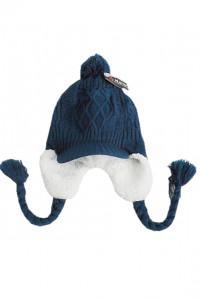 Ta New czapka zimowa dziewczeca ocieplana granatowa 5 lat