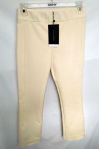 Śmietankowe spodnie Zara XS...
