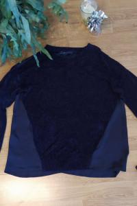 Granatowy sweter damski...