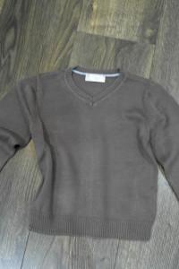 F&F sweterek brązowy 98 104...