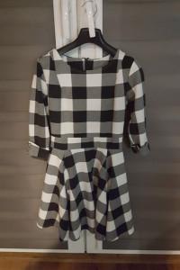 sukienka krata XS...