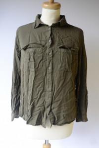 Koszula H&M Militarna XXL 44 Zielona Khaki Oversize Elegancka...