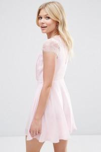 Nowa sukienka ASOS koronka szyfon zwiewna lekka elegancka r 34...